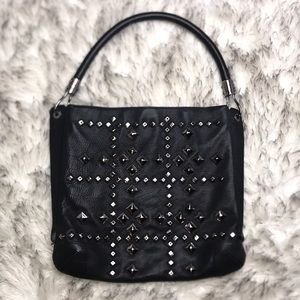 Michael Kors Black Leather Studded Purse